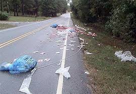 Trash on Highway