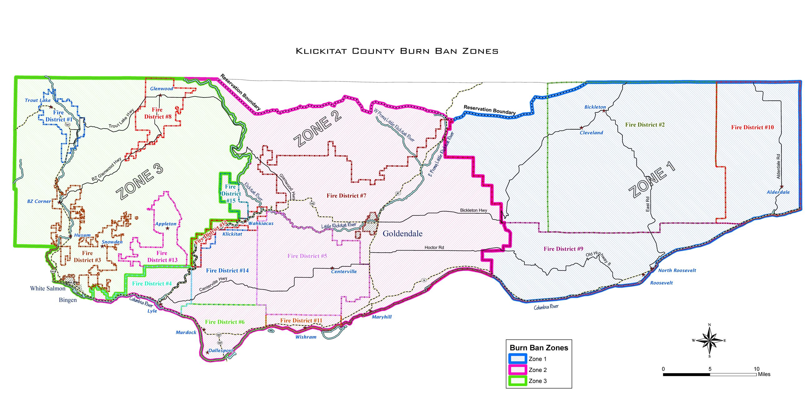 All County Burn Ban Zones Map