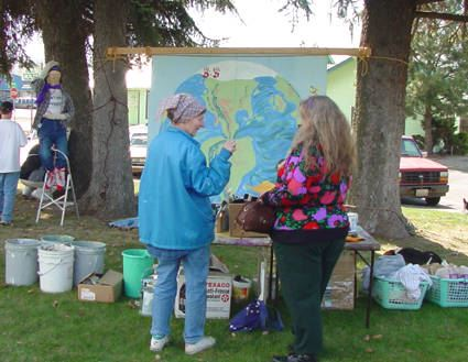 People participate in a variety of activities at the Earth Day celebration.