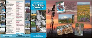 The cover page of the Klickitat County Tourism Brochure.