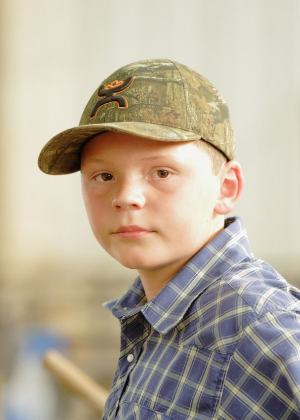 A little boy attends the 2014 Klickitat County Fair.